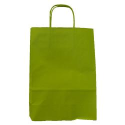 Sac papier poignées ficelle 35x14x44 cm vert anis