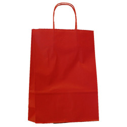 Sac papier poignées ficelle 35x14x44 cm rouge