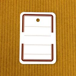 Etiquettes à trou 30 x 46 mm