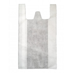 Sacs bretelles blanc 26+12x45 cm (x250)