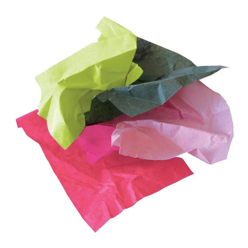 Rame de papier de soie couleurs.