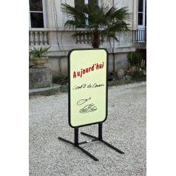 Chevalet extérieur effaçable 95x65cms. Fabrication Française