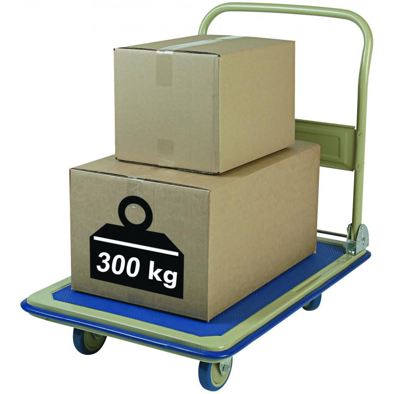 Chariot pliant 300 kilos sur roulettes