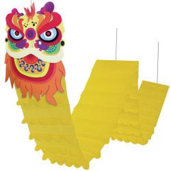 Dragon géant jaune et multicolore de 320 cm