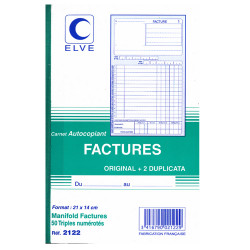 Facturiers A5  (3 exemplaires)