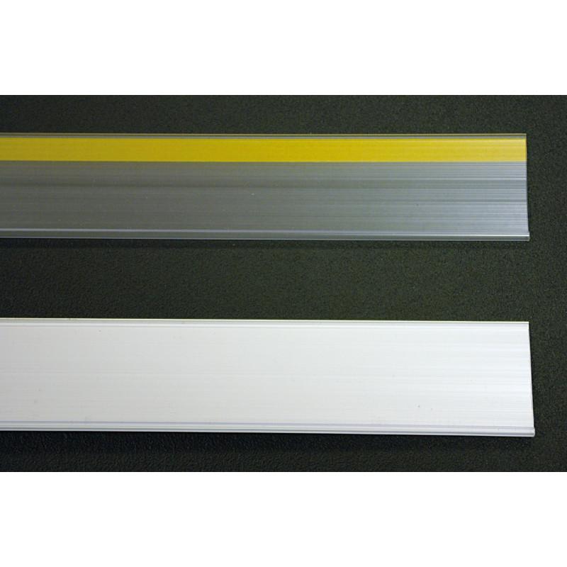 Profil porte étiquettes adhésif 1320X30mm -transparent