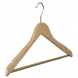 Cintre 43 cm bois avec barre et encoches
