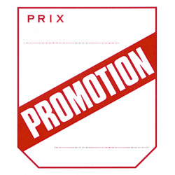 Etiquettes promotion