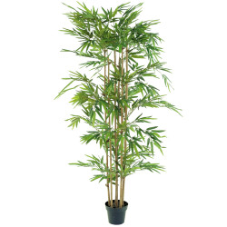 Bambou artificiel de 170 cm présenté en pot