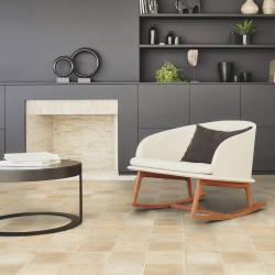 Revêtement de sol PVC décor Carrelage sable