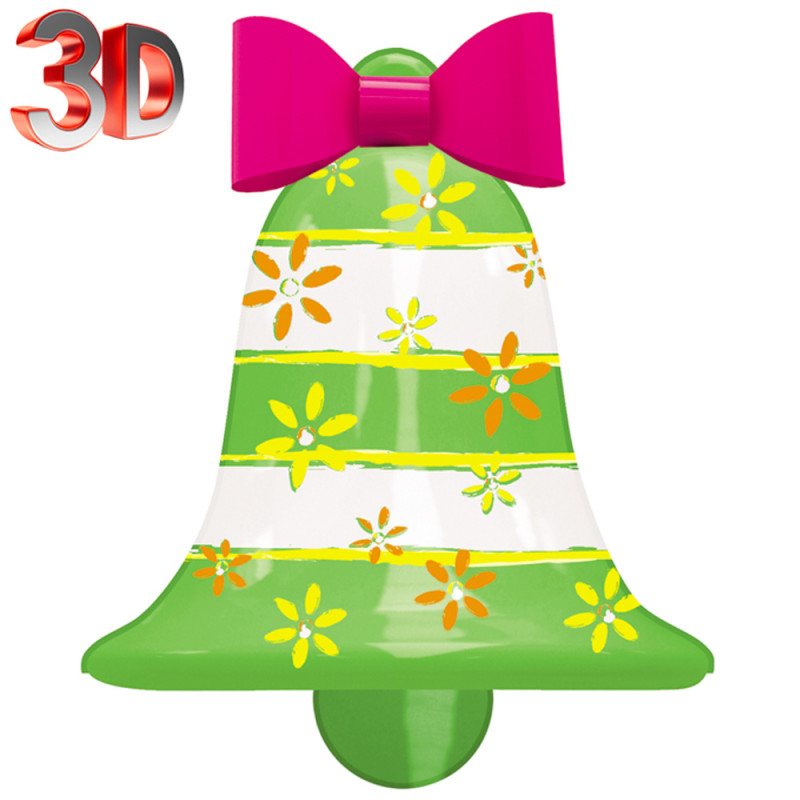 Superbe cloche décorée, en 3D, idéale pour vos décorations sur Pâques ou sur St Nicolas