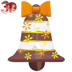 Cloche décorée en 3D de 60 cm idéale pour vos décors de Pâques ou de St Nicolas