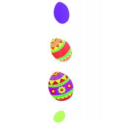 Mobile de 4 œufs de Pâques d'une hauteur de 135 cm