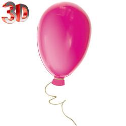 Ballon baudruche en coloris fuchsia de 60 cm en PVC thermoformé