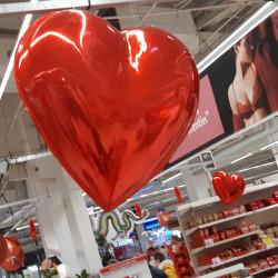 Exemple d'une utilisation du cœur en 3D avec un décor de magasin