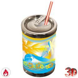 Grande canette de soda de 62 cm et de 40 cm de diamètre