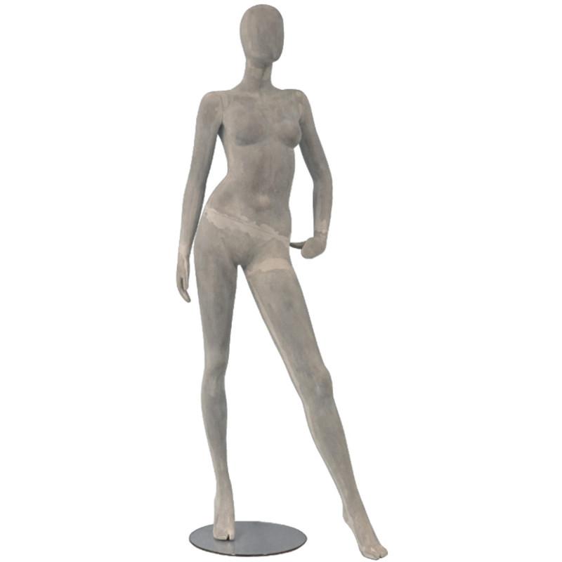 Mannequin Femme Urban coloris gris béton de 182 cm