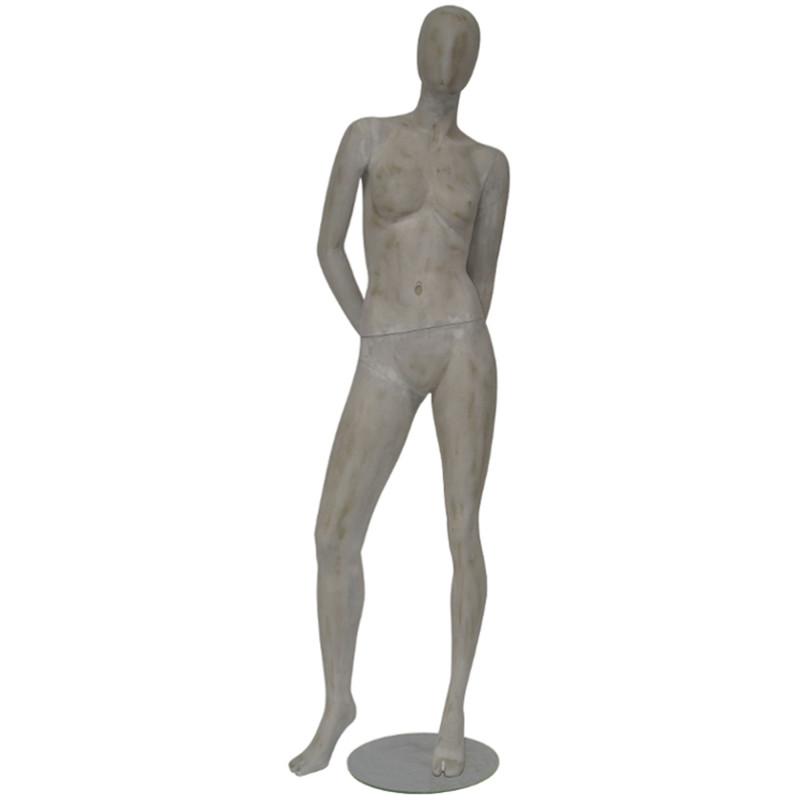 Mannequin femme imitation béton de 182 cm