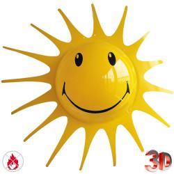 Grand soleil rigolo en 3D de  90 cm de diamètre