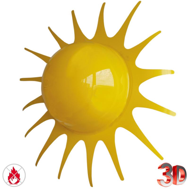 Soleil XXL en 3D de 90 cm de diamètre et d'une épaisseur de 40 cm