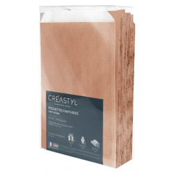 Pochettes cadeaux kraft  naturel -18x6x35cm