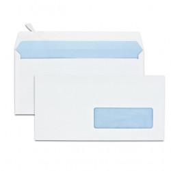 Enveloppes blanches 110x220mm avec fenêtre
