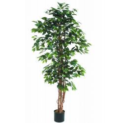 Ficus artificiel multitroncs 190 cm en pot
