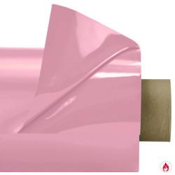 Laquefolie ignifugée de 130 cm en coloris rose