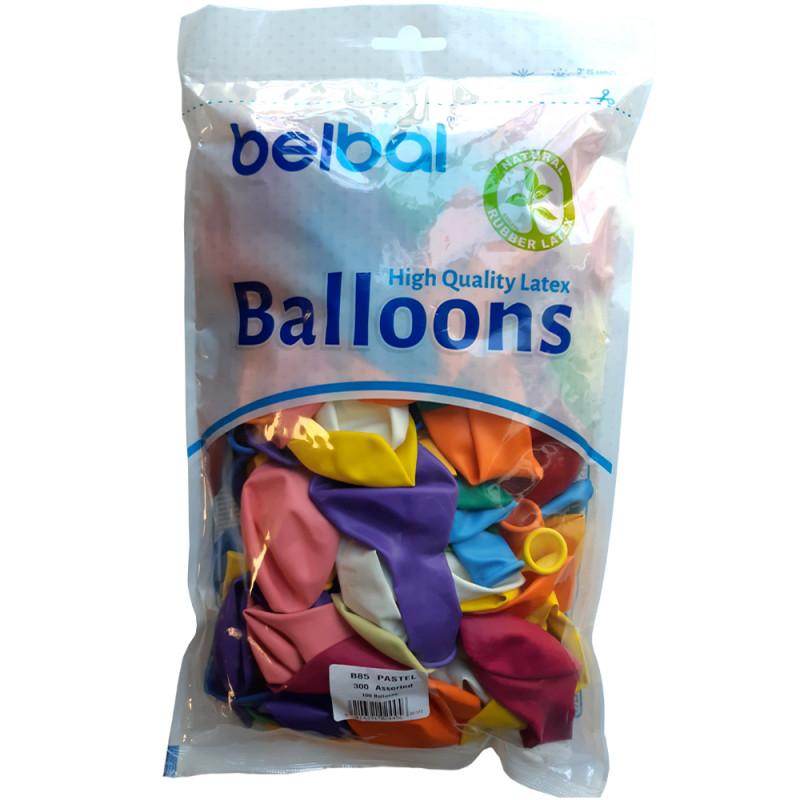 Sachet de 100 ballons assortis  de 30 cm, biodégradable