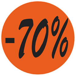 Étiquette adhésive fluo rouge  -70%