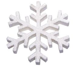 """Flocon de neige """"Termoli"""" 30 cm blanc"""