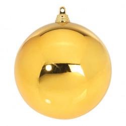 Boule de Noël diamètre 100 mm, coloris Or