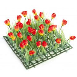 PLAQUE gazon Tulipes 24x24cm